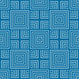Vector abstract seamless composition best for use as wrapping pa. Per, symmetric ornate background created with simple geometric shapes, squares Royalty Free Stock Photos