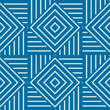 Vector abstract seamless composition best for use as wrapping pa. Per, symmetric ornate background created with simple geometric shapes, squares and rhombuses Stock Photography