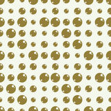 Vector abstract seamless composition best for use as wrapping. Paper, symmetric ornate background created with simple geometric shapes, circles and spheres Stock Photos