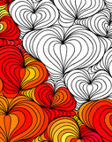 Vector abstract seamless fantasy pattern hand drawn ornaments Stock Images