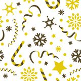 Abstract seamless festive christmas pattern. Vector abstract seamless festive christmas pattern Royalty Free Stock Photos