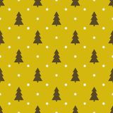 Abstract seamless festive christmas tree pattern. Vector abstract seamless festive christmas tree pattern Stock Photos