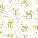 Abstract seamless festive pattern with gifts. Vector abstract seamless festive pattern with gifts Royalty Free Stock Photography