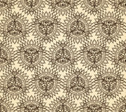 Vector abstract seamless geometric background Royalty Free Stock Photography