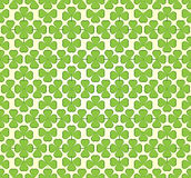 Vector abstract seamless green  trefoil pattern Royalty Free Stock Photo