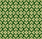 Vector abstract seamless green  trefoil pattern Stock Photography
