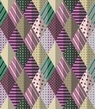 Vector abstract seamless patchwork pattern. Stock Image