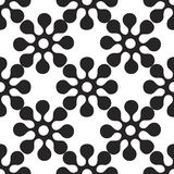 Vector abstract seamless patchwork pattern with geometric and floral ornaments,. Vector abstract seamless patchwork pattern Royalty Free Stock Photo