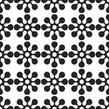 Vector abstract seamless patchwork pattern with geometric and floral ornaments. Ceramic paint floor, ornament Collection Patchwork Pattern Royalty Free Stock Photos