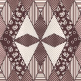 Vector abstract seamless patchwork pattern Stock Photos