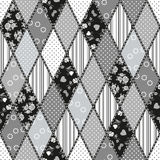 Vector abstract seamless patchwork pattern Royalty Free Stock Photo