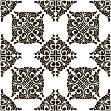 Vector abstract seamless patchwork pattern with geometric and floral ornaments,. Vintage tiles intricate details for a decorative look. Ceramic paint floor stock illustration