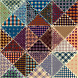Vector abstract seamless patchwork pattern from triangles Stock Photo