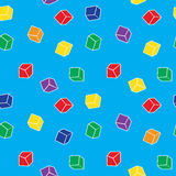 Vector abstract seamless pattern - colorful cubes Royalty Free Stock Image