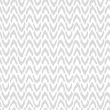 Vector Abstract seamless pattern with hand drawn chevron. Ticks. With rough edges in light-gray color on white background. Neutral Trendy graphic design Royalty Free Stock Photos