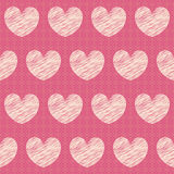 Vector abstract seamless pattern with hearts Stock Photos