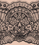 Vector Abstract seamless pattern with lace leaves and flowers pattern Royalty Free Stock Image