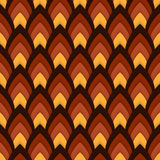 Vector abstract seamless pattern with pointed ovals Royalty Free Stock Images