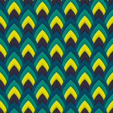 Vector abstract seamless pattern with pointed ovals. Suitable for Wallpapers, backgrounds and presentations Stock Photos