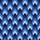 Vector abstract seamless pattern with pointed ovals. Suitable for Wallpapers, backgrounds and presentations Stock Photo