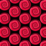 Vector abstract seamless pattern with rotating shapes in shades of red Stock Photo
