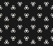 Vector abstract seamless pattern with simple geometric figures. Vector seamless pattern with simple geometric figures, triangles, sharp shapes. Abstract Royalty Free Stock Photo