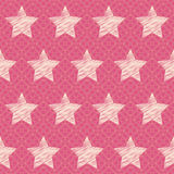 Vector abstract seamless pattern with stars Stock Images