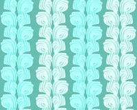 Vector abstract seamless pattern with sweet cream. Stripes on blue background stock illustration