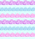 Vector abstract seamless pattern with sweet cream stripes stock photo
