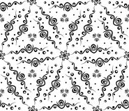 Abstract seamless pattern with waves and circles. Vector abstract seamless pattern with waves and circles. Vector background with lines and rounds. Decorative Stock Image