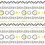Vector abstract seamless patterns in yellow, white and black Royalty Free Stock Photos