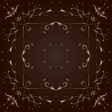 Vector abstract seamless symmetrical pattern Royalty Free Stock Photography