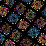 Vector abstract seamless tile multicolor mosaic pattern Royalty Free Stock Photography