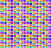 Vector Abstract Semless Pattern, Square Geometric Colorful Shapes. royalty free illustration