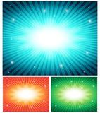 Vector abstract set of colorful backgrounds Royalty Free Stock Photography