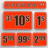 Vector abstract set of price stickers Stock Photo