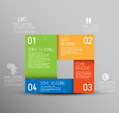 Vector Abstract shape with Infographic elements Royalty Free Stock Photography