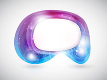 Vector abstract shape or speech bubble Royalty Free Stock Photo