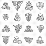 Vector abstract shapes collection. Geometric artistic composition. n Royalty Free Stock Photos