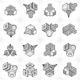 Vector abstract shapes collection. Modern geometric art composition. n Stock Image