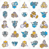 Vector abstract shapes collection. Modern geometric art illustration Stock Photo