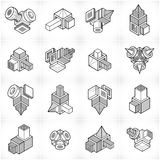 Vector abstract shapes collection. Modern geometric art illustration Royalty Free Stock Images