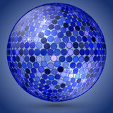 Vector abstract shining crystal ball Royalty Free Stock Photography