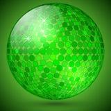 Vector abstract shining crystal ball. Vector abstract bright green shining crystal magic ball Stock Image