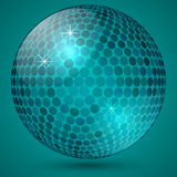 Vector abstract shining crystal ball Royalty Free Stock Image