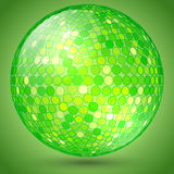 Vector abstract shining crystal ball Stock Images