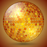 Vector abstract shining crystal ball. Vector abstract orange gold shining crystal magic ball Stock Image