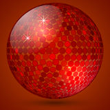 Vector abstract shining crystal ball Stock Image