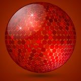 Vector abstract shining crystal ball Stock Image