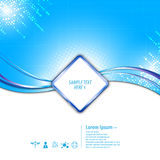 Vector abstract sign banner tech concept background. Eps 10 stock illustration